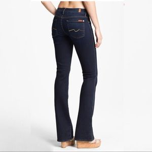 7 For All Mankind Kimmie Boot Cut Blue Jeans 27
